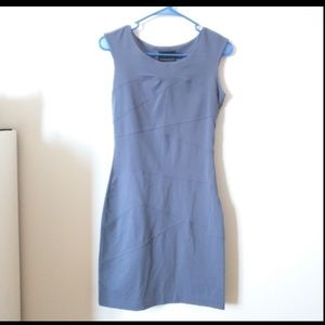 BEAUTIFUL CYNTHIA ROWLEY SLATE BLUE DRESS SZ L LG